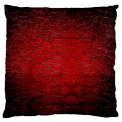 Red Grunge Texture Black Gradient Standard Flano Cushion Case (one Side)
