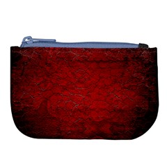 Red Grunge Texture Black Gradient Large Coin Purse by BangZart