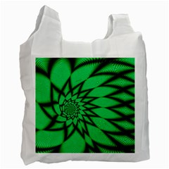 The Fourth Dimension Fractal Recycle Bag (one Side) by BangZart