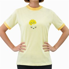 Cloud Cloudlet Sun Sky Milota Women s Fitted Ringer T-shirts by BangZart