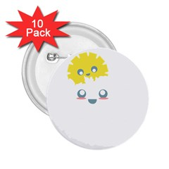 Cloud Cloudlet Sun Sky Milota 2 25  Buttons (10 Pack)