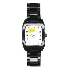 Cloud Cloudlet Sun Sky Milota Stainless Steel Barrel Watch by BangZart