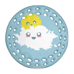 Cloud Cloudlet Sun Sky Milota Round Filigree Ornament (two Sides)