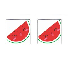 Watermelon Red Network Fruit Juicy Cufflinks (square) by BangZart