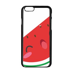 Watermelon Red Network Fruit Juicy Apple Iphone 6/6s Black Enamel Case