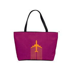 Airplane Jet Yellow Flying Wings Shoulder Handbags by BangZart