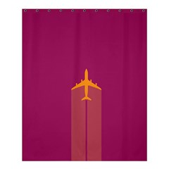 Airplane Jet Yellow Flying Wings Shower Curtain 60  X 72  (medium)  by BangZart