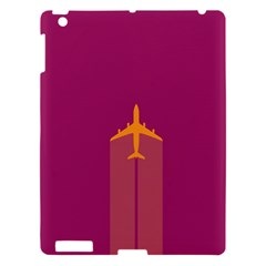 Airplane Jet Yellow Flying Wings Apple Ipad 3/4 Hardshell Case by BangZart