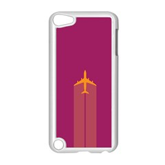 Airplane Jet Yellow Flying Wings Apple Ipod Touch 5 Case (white)