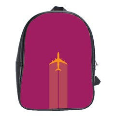 Airplane Jet Yellow Flying Wings School Bag (xl) by BangZart