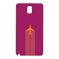 Airplane Jet Yellow Flying Wings Samsung Galaxy Note 3 N9005 Hardshell Back Case by BangZart