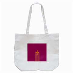 Airplane Jet Yellow Flying Wings Tote Bag (white)