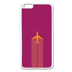 Airplane Jet Yellow Flying Wings Apple Iphone 6 Plus/6s Plus Enamel White Case
