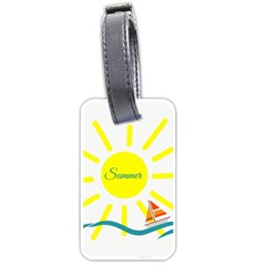 Summer Beach Holiday Holidays Sun Luggage Tags (one Side)  by BangZart
