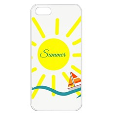 Summer Beach Holiday Holidays Sun Apple Iphone 5 Seamless Case (white) by BangZart