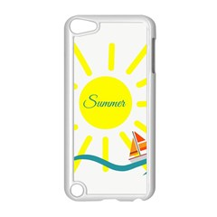 Summer Beach Holiday Holidays Sun Apple Ipod Touch 5 Case (white)