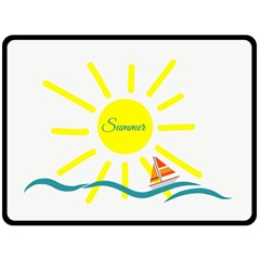 Summer Beach Holiday Holidays Sun Double Sided Fleece Blanket (large)  by BangZart