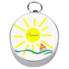Summer Beach Holiday Holidays Sun Silver Compasses