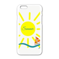 Summer Beach Holiday Holidays Sun Apple Iphone 6/6s White Enamel Case