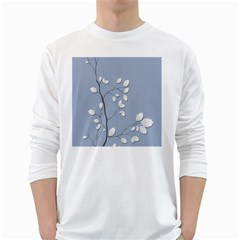 Branch Leaves Branches Plant White Long Sleeve T Shirts