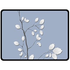 Branch Leaves Branches Plant Double Sided Fleece Blanket (large)  by BangZart