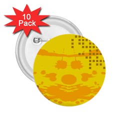 Texture Yellow Abstract Background 2 25  Buttons (10 Pack)