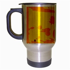 Texture Yellow Abstract Background Travel Mug (silver Gray) by BangZart