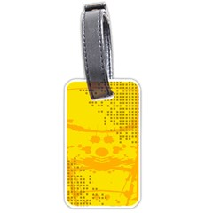 Texture Yellow Abstract Background Luggage Tags (one Side)