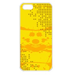 Texture Yellow Abstract Background Apple Iphone 5 Seamless Case (white)