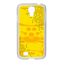 Texture Yellow Abstract Background Samsung Galaxy S4 I9500/ I9505 Case (white)