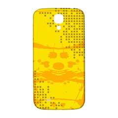 Texture Yellow Abstract Background Samsung Galaxy S4 I9500/i9505  Hardshell Back Case by BangZart