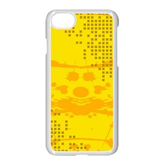 Texture Yellow Abstract Background Apple Iphone 8 Seamless Case (white)