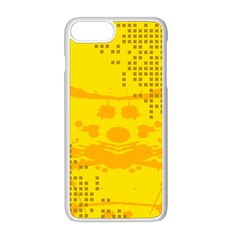 Texture Yellow Abstract Background Apple Iphone 8 Plus Seamless Case (white) by BangZart
