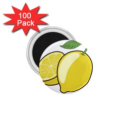 Lemon Fruit Green Yellow Citrus 1 75  Magnets (100 Pack)