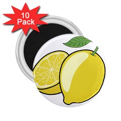 Lemon Fruit Green Yellow Citrus 2 25  Magnets (10 Pack)  by BangZart