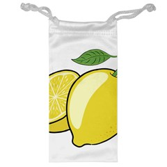Lemon Fruit Green Yellow Citrus Jewelry Bag