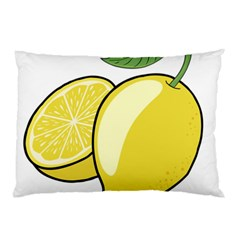 Lemon Fruit Green Yellow Citrus Pillow Case