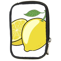 Lemon Fruit Green Yellow Citrus Compact Camera Cases by BangZart