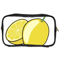 Lemon Fruit Green Yellow Citrus Toiletries Bags by BangZart