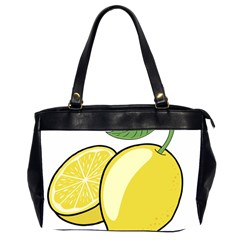 Lemon Fruit Green Yellow Citrus Office Handbags (2 Sides)