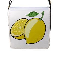 Lemon Fruit Green Yellow Citrus Flap Messenger Bag (l)  by BangZart