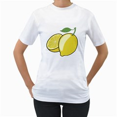 Lemon Fruit Green Yellow Citrus Women s T Shirt (white)