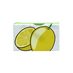 Lemon Fruit Green Yellow Citrus Cosmetic Bag (xs)