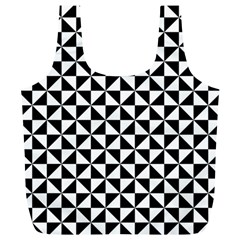 Triangle Pattern Simple Triangular Full Print Recycle Bags (l)