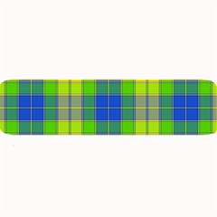 Spring Plaid Yellow Blue And Green Large Bar Mats