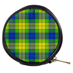 Spring Plaid Yellow Blue And Green Mini Makeup Bags by BangZart