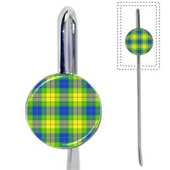 Spring Plaid Yellow Blue And Green Book Mark by BangZart