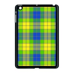 Spring Plaid Yellow Blue And Green Apple Ipad Mini Case (black) by BangZart