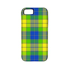 Spring Plaid Yellow Blue And Green Apple Iphone 5 Classic Hardshell Case (pc+silicone) by BangZart
