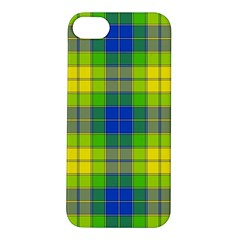 Spring Plaid Yellow Blue And Green Apple Iphone 5s/ Se Hardshell Case by BangZart